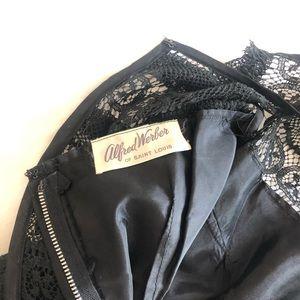 Vintage Dresses - Vintage black lace shift dress
